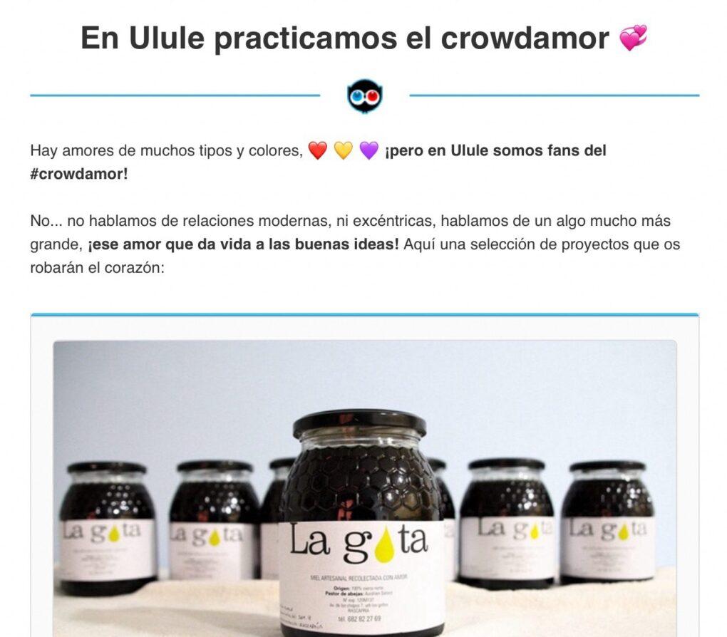Ulule apoya a miel-lagota.es